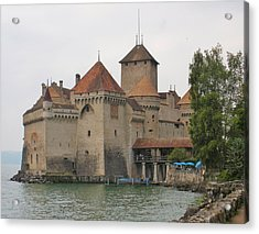Chateau De Chillon Switzerland Acrylic Print by Marilyn Dunlap