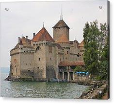 Chateau De Chillon Switzerland Acrylic Print by Marilyn Dunlap