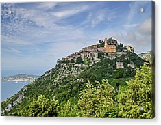 Chateau D'eze On The Road To Monaco Acrylic Print