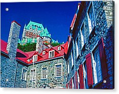 Chateau Frontenac Acrylic Print by Dennis Cox
