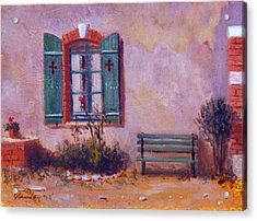 Chateau Pioget  Loire Valley France Acrylic Print by David Olander