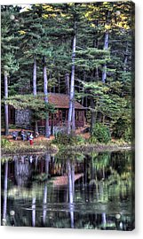 Chatfield Hollow Cabin Acrylic Print by Sam Turgeon