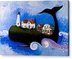 Chatham - A Whale Of A Town Acrylic Print by Theresa LaBrecque