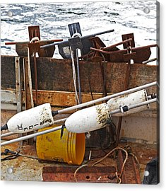 Acrylic Print featuring the photograph Chatham Fishing by Charles Harden