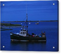 Chatham Pier Fisherman Boat  Acrylic Print by Juergen Roth