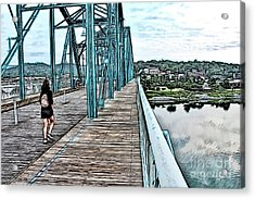 Chattanooga Footbridge Acrylic Print