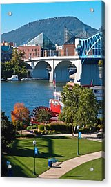 Chattanooga Landmarks Acrylic Print by Tom and Pat Cory