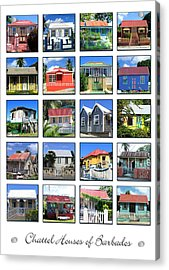 Chattel Houses Of Barbados Acrylic Print by Barbara Marcus