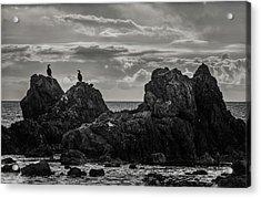Chatting On Rocks Acrylic Print