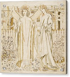 Chaucers Legend Of Good Women Amor And Alcestis  Acrylic Print by Edward Burne-Jones