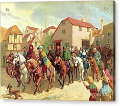 Chaucer's Pilgrims Acrylic Print by van der Syde