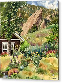 Acrylic Print featuring the painting Chautauqua Cottage by Anne Gifford
