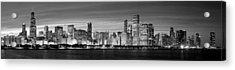 Chciago Skyline In Black And White Acrylic Print
