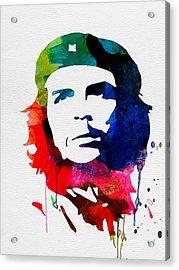 Che Guevara Watercolor 2 Acrylic Print by Naxart Studio