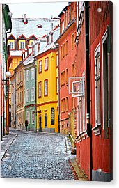 Cheb An Old-world-charm Czech Republic Town Acrylic Print by Christine Till
