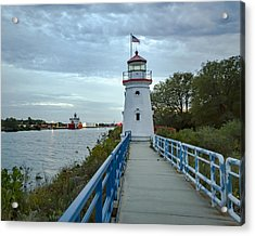 Cheboygan Crib Lighthouse Lake Huron, Lower Peninsula Mi Acrylic Print