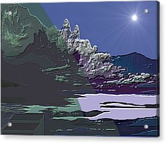 Acrylic Print featuring the digital art 1978 - Nowhere  by Irmgard Schoendorf Welch