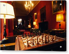 Check Mate At Dromoland Acrylic Print by Carl Purcell