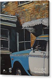 Checker Cab Acrylic Print