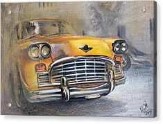 Checker Taxi Acrylic Print