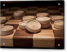 Checkers II Acrylic Print by Tom Mc Nemar