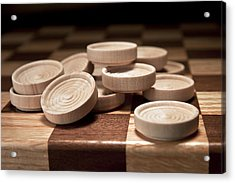Checkers IIi Acrylic Print by Tom Mc Nemar