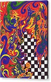 Checkers  Acrylic Print by Mandy Shupp