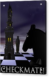 Checkmate Acrylic Print by David Griffith