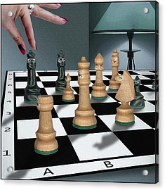 Checkmate Acrylic Print by Marty Garland