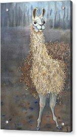 Cheeky The Llama Acrylic Print