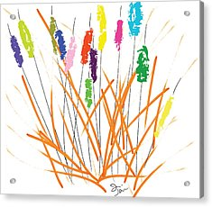 Cheerful Cattails Acrylic Print