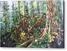 Cheers Brother Acrylic Print by Muyang Kumundan