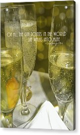 Cheers Quote Acrylic Print by JAMART Photography