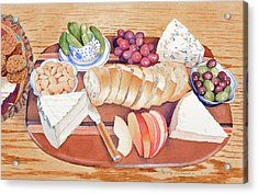 Cheese Plate For A Party Acrylic Print
