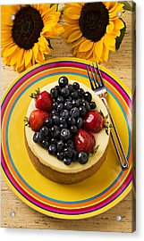 Cheesecake With Fruit Acrylic Print by Garry Gay