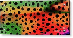 Cheetah Animal Print 5 Mug Acrylic Print by Edward Fielding