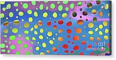 Cheetah Animal Print Colorful Mug Acrylic Print by Edward Fielding