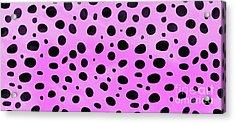 Cheetah Animal Skin Purple Pattern Mug Acrylic Print by Edward Fielding