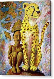 Cheetah Boy Acrylic Print