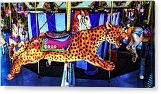 Cheetah Carrousel Ride Acrylic Print