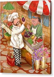 Chefs Go To Market I Acrylic Print