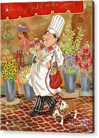 Chefs Go To Market II Acrylic Print