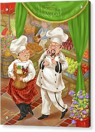 Chefs Go To Market IIi Acrylic Print