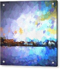 Chelan Winter Impression 1 Acrylic Print by Tonya Doughty
