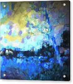 Chelan Winter Impression 2 Acrylic Print by Tonya Doughty