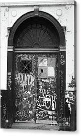 Chelsea Doorway Nyc Acrylic Print by Edward Fielding