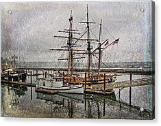 Chelsea Rose And Tall Ships Acrylic Print