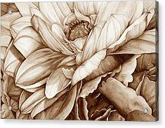 Chelsea's Bouquet 2 - Neutral Acrylic Print