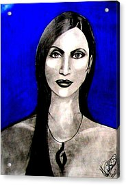 Acrylic Print featuring the drawing Chelu by Michelle Dallocchio