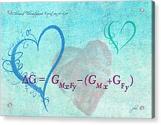 Chemical Thermodynamic Equation For Love Acrylic Print